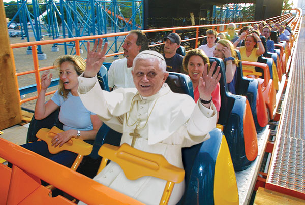 Pope at Six Flags
